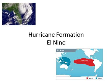 Hurricane Formation El Nino. Warm-up: water cycle review. Label the arrows with these terms: What are the 2 possibilities for precipitation that hits.