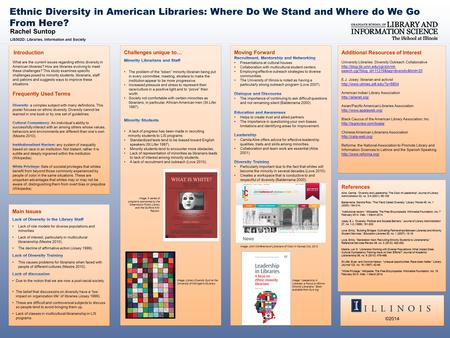 Rachel Suntop LIS502D: Libraries, Information and Society Ethnic Diversity in American Libraries: Where Do We Stand and Where do We Go From Here? References.
