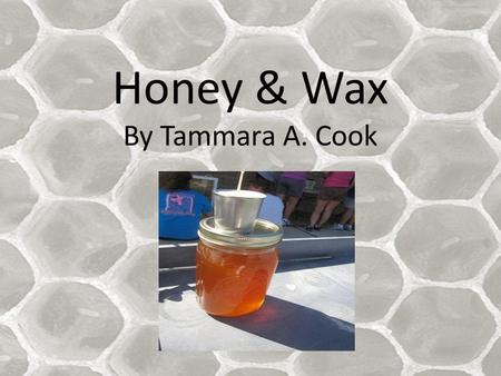 Honey & Wax By Tammara A. Cook. Bee hive Honey Bees.