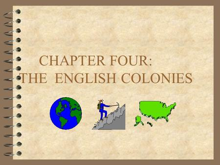 CHAPTER FOUR: THE ENGLISH COLONIES WHY WERE THE ENGLISH COLONIES UNIQUE? 4 TO ANSWER THIS QUESTION ONE NEEDS TO FOCUS ON THE THREE MAIN AREAS OF HISTORICAL.