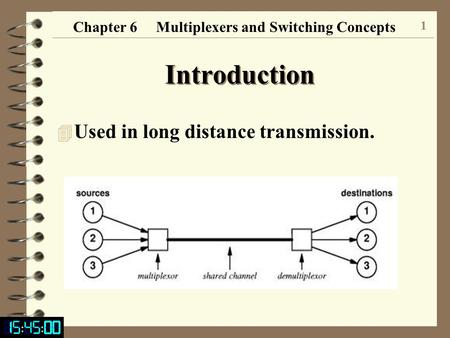Chapter 6 Multiplexers and Switching Concepts