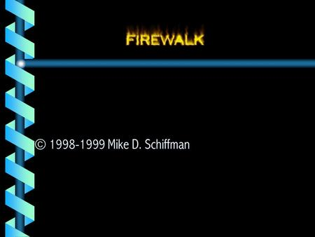 © 1998-1999 Mike D. Schiffman. Synopsis  Introduction  Overview  Impetus  Internals  Implementation  Risk Mitigation  Futures.