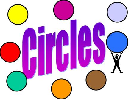 Parts of a Circle Circle – set of all points _________ from a given point called the _____ of the circle. C Symbol: equidistant center C.