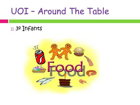 UOI – Around The Table  3º Infants. Food triangle: