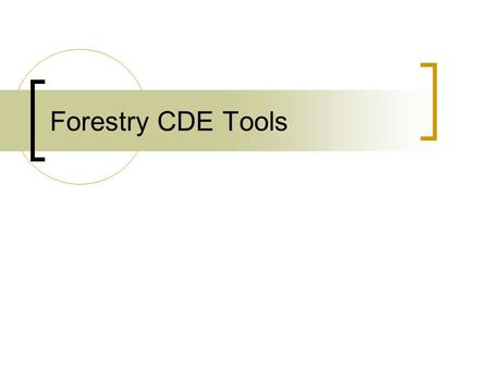 Forestry CDE Tools. Bark Gauge Cant Hook Clinometer.