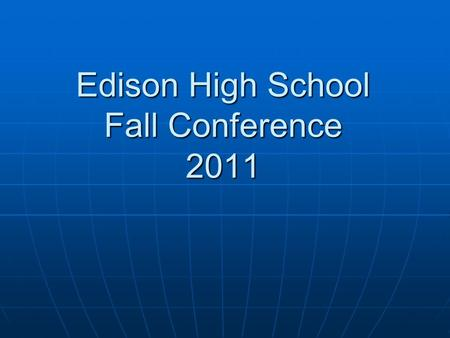 Edison High School Fall Conference 2011. Fundraiser Total Funds (Akeri School) $314.94 Total Funds (Akeri School) $314.94 Total Funds (Christmas Child)