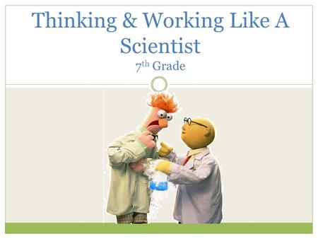 Think Like a Scientist: Observe, Sort, and Classify