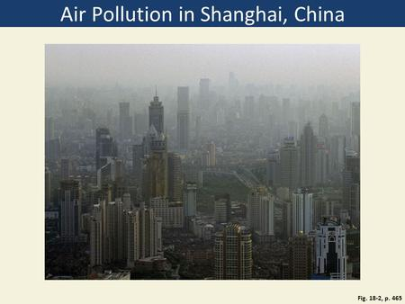 Air Pollution in Shanghai, China Fig. 18-2, p. 465.