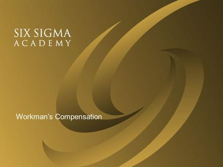 © 2002 Six Sigma Academy0 Define Point one Point two Point three Workman's Compensation.