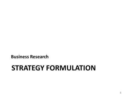 STRATEGY FORMULATION Business Research 1. VG Orjalo2 SWOT/TOWS Analysis SWOT Analysis refers to the listing of identified stengths, weaknesses, opportunities.