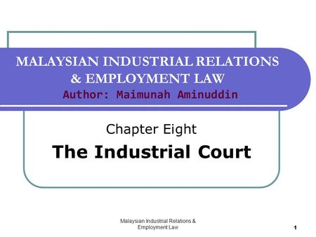 industrial relations and industrial disputes