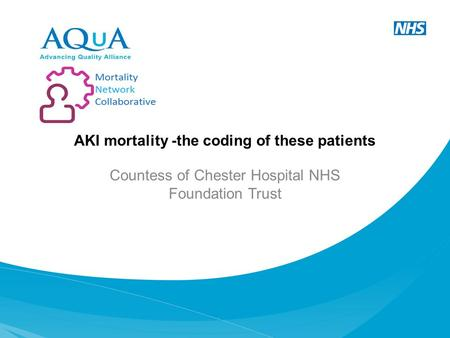 AKI mortality -the coding of these patients