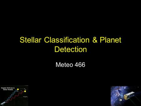 Stellar Classification & Planet Detection