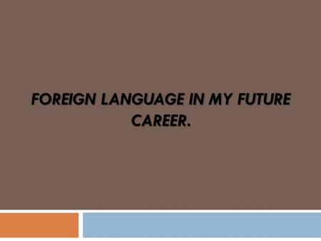Programming Language and Future Career