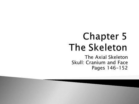 The Axial Skeleton Skull: Cranium and Face Pages