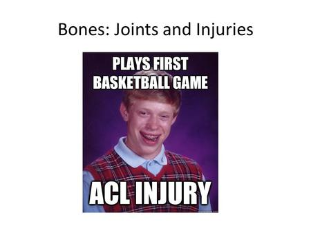 Bones: Joints and Injuries