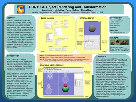 INTRODUCTION GORT is a virtual 3D modeling environment for computer programmers. Its main area of focus is to aid in the education of programmers learning.