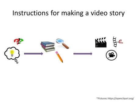 Instructions for making a video story *Pictures: https://openclipart.org/