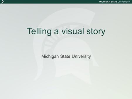 Telling a visual story Michigan State University.