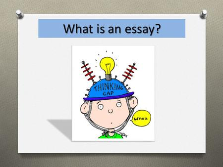 What is an essay?. This is an essay An essay is a group of paragraphs that supports, examines, outlines, explores, defends, analyzes, describes, develops,
