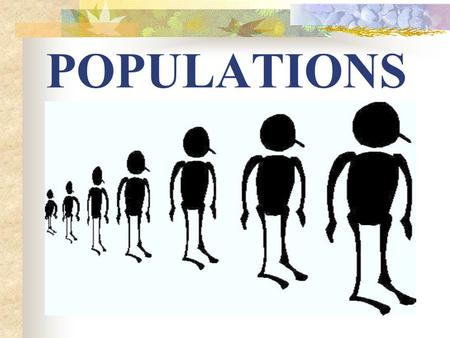 POPULATIONS. 1. S curve = Logistic growth Resource availability will cause the population to level off over time When we look at how populations grow,