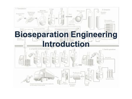Bioseparation Engineering Introduction. Biotechnology built on the genetic manipulation of organisms to produce commercial products or processes Biochemical.