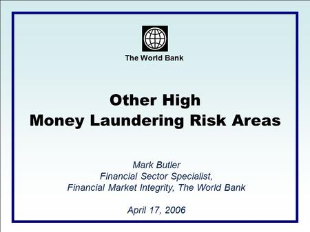 Money Laundering Risk Areas