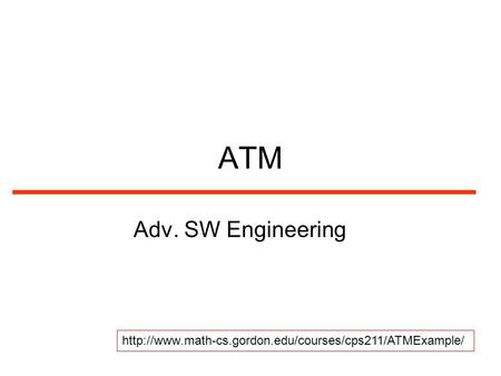 ATM Adv. SW Engineering