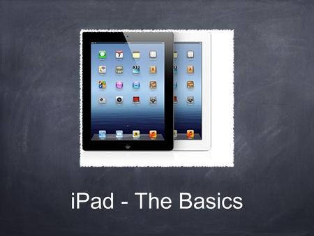 IPad - The Basics. Tip o The Day Most people think they know more than they do (myself included) and someone, somewhere always knows more than you about.