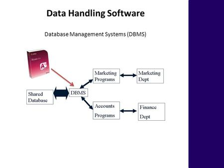 Database Management Systems (DBMS) Data Handling Software.