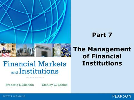 Part 7 The Management of Financial Institutions. Chapter 23 Risk Management in Financial Institutions.