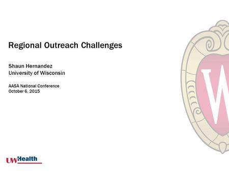Regional Outreach Challenges