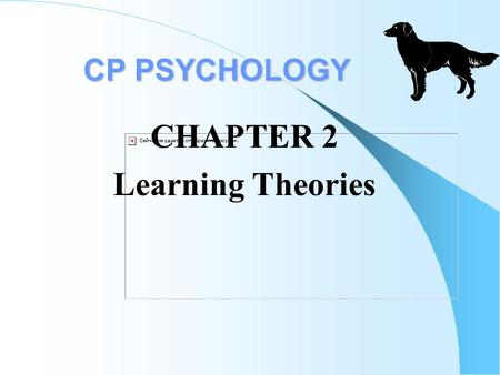 CP PSYCHOLOGY CP PSYCHOLOGY CHAPTER 2 Learning Theories.