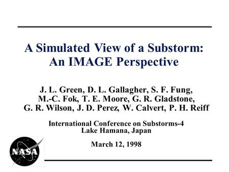 A Simulated View of a Substorm: An IMAGE Perspective