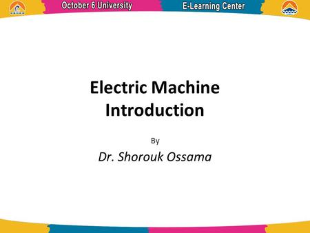 Electric Machine Introduction