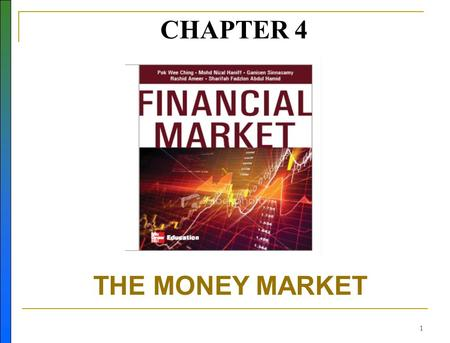 1 CHAPTER 4 THE MONEY MARKET N. 2 Learning Objectives Describe the money market. Know the different types of financial instruments available in the money.
