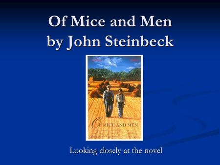 how does john steinbeck portray loneliness The novella of mice and men by john steinbeck and to portray violence (b) how does steinbeck use by john steinbeck of mice and men: loneliness.