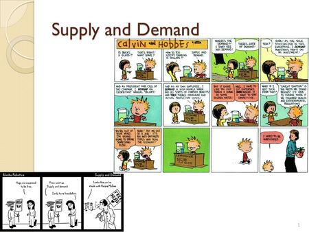 Supply and Demand 1. Demand Demand represents the behavior of buyers. A Demand Curve A Demand Curve shows the quantity demanded at different prices. Quantity.