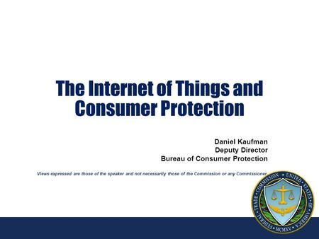 The Internet of Things and Consumer Protection