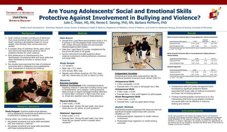 Are Young Adolescents' Social and Emotional Skills Protective Are Young Adolescents' Social and Emotional Skills Protective Against Involvement in Bullying.