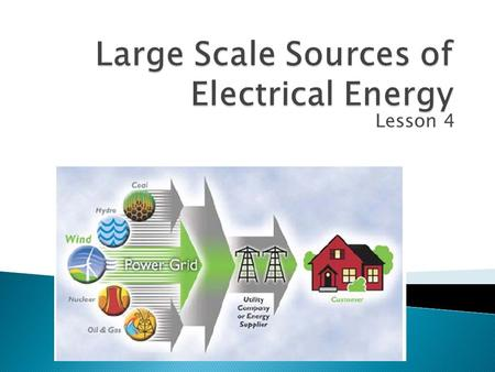 Large Scale Sources of Electrical Energy