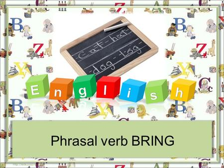 Phrasal verb BRING  BRING BACK to make somebody remember something or think about it again The photographs brought back many pleasant.
