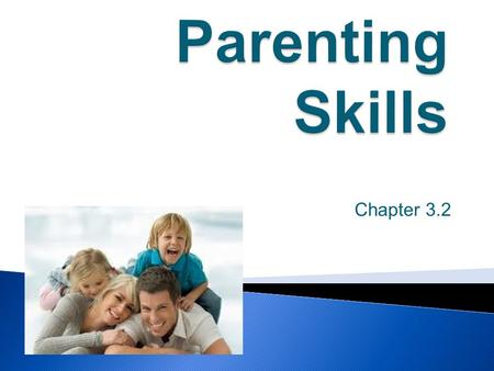 Chapter 3.2. Parenting Skills do not always come naturally. Parenting is a learning process that takes time and occurs daily. Parents must work to develop.