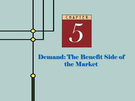 Demand: The Benefit Side of the Market. 2 Law of Demand  Law of Demand  People do less of what they want to do as the cost of doing it rises  Recall.