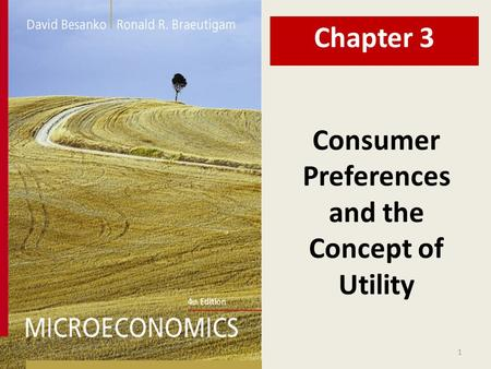 Consumer Preferences and the Concept of Utility