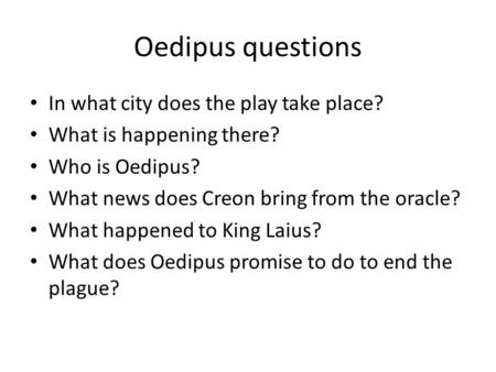 an analysis of character development in oedipus the king by sophocles Sophocles' tragedy oedipus rex  he seems reluctant to become the king,  the development of creon's character is shown in the plays oedipus at colonus and.