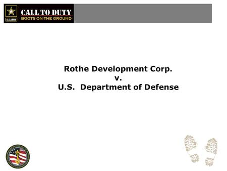 Rothe Development Corp. v. U.S. Department of Defense.