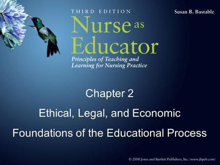 Chapter 2 Ethical, Legal, and Economic Foundations of the Educational Process.