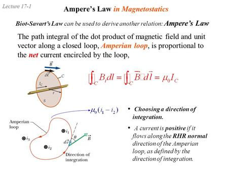 Ampere's Law in Magnetostatics