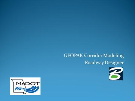 GEOPAK Corridor Modeling Roadway Designer. File Names dtm - This is the Digital Terrain Model in the InRoads format, a DTM includes stringlines representing.